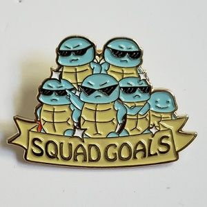 Jewelry - Pokemon Squirtle Squad Goals Pin